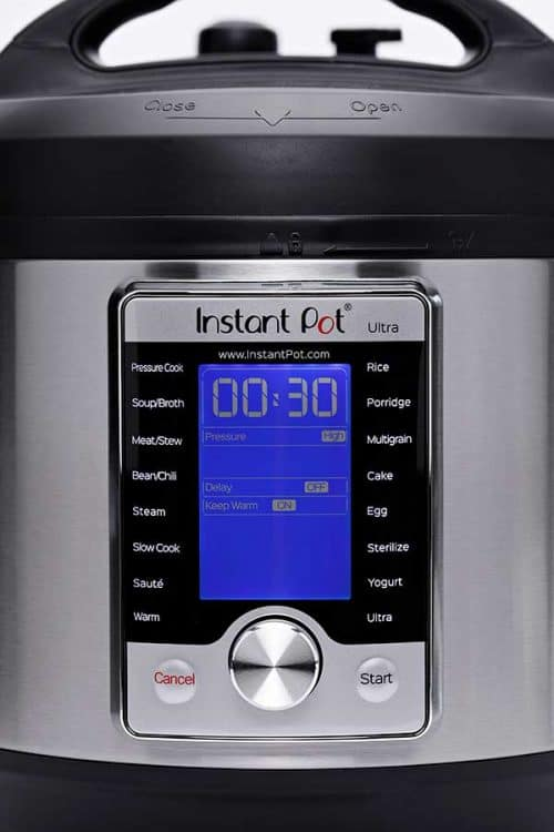 Front Panel of th e Instant Pot Ultra