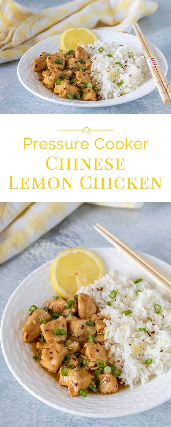 Tender pieces of chicken in a sweet lemon sauce with just a hint of ginger, garlic, and red pepper. APressure Cooker Chinese Lemon Chicken that will keep you at home instead of heading to your favorite Chinese restaurant.