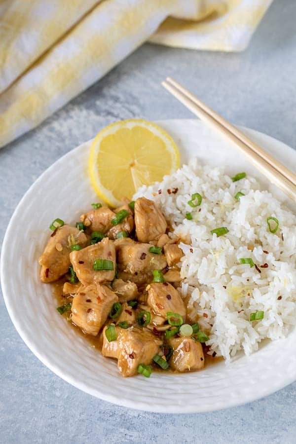 Pressure Cooker Chinese Lemon Chicken - one of my favorite quick and easy pressure cooker chicken recipes!