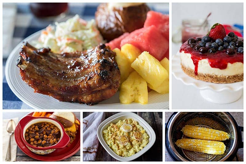 This 4th of July use your pressure cooker to make faster, easier and tastier main dishes, side dishes, and desserts. Here's a roundup of my best 4th of July pressure cooker / Instant Pot recipes.