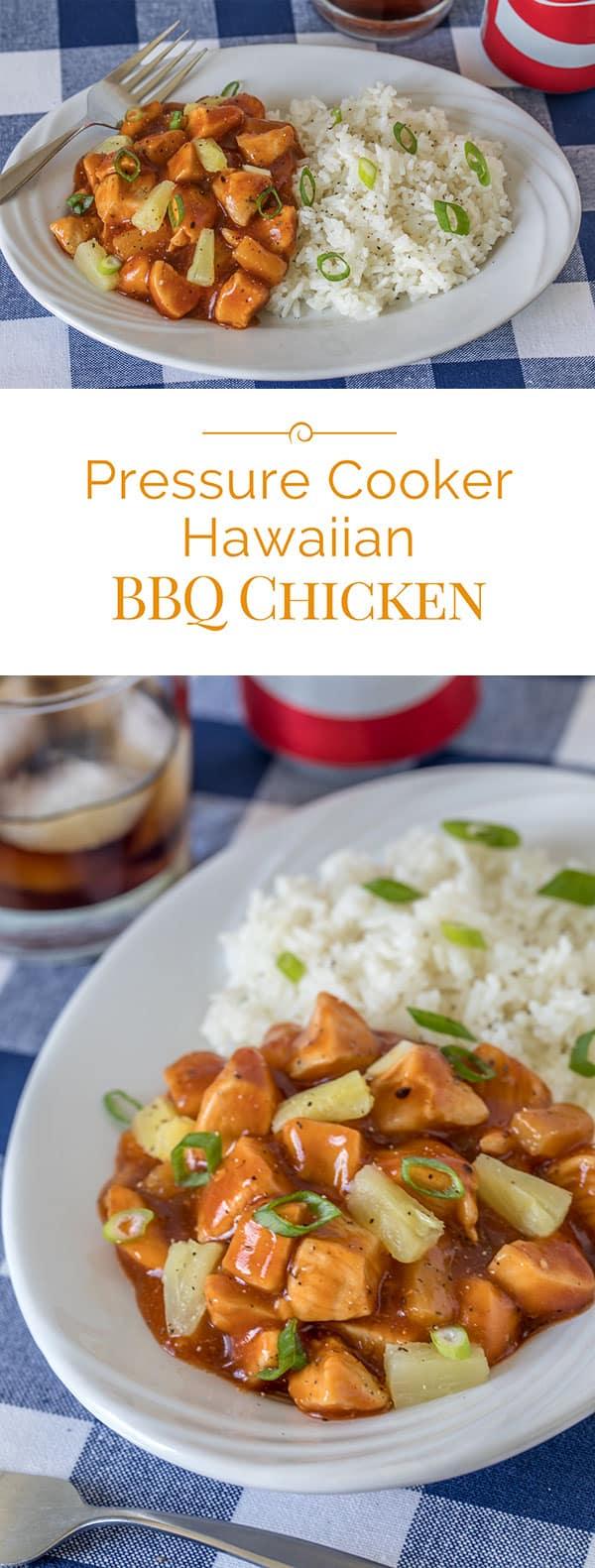 Pressure-Cooker-Hawaiian-BBQ-Chicken-Collage