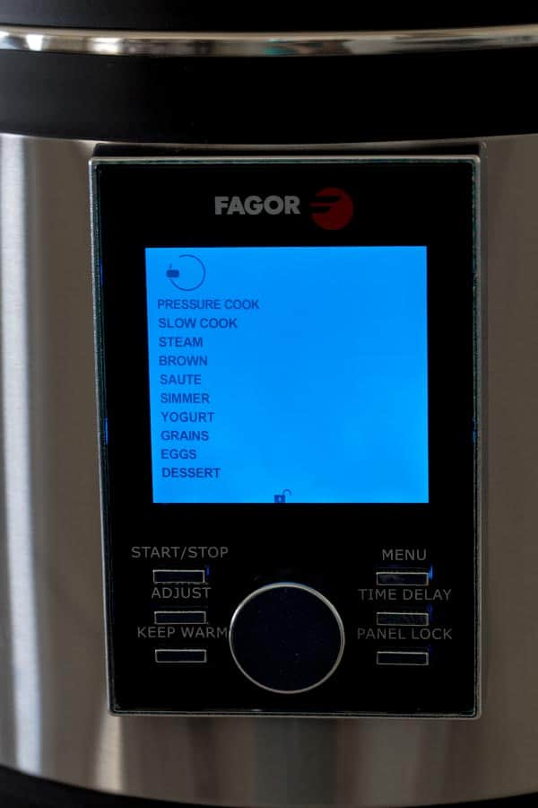 Fagor LUX LCD 6 Quart Multicooker Functions