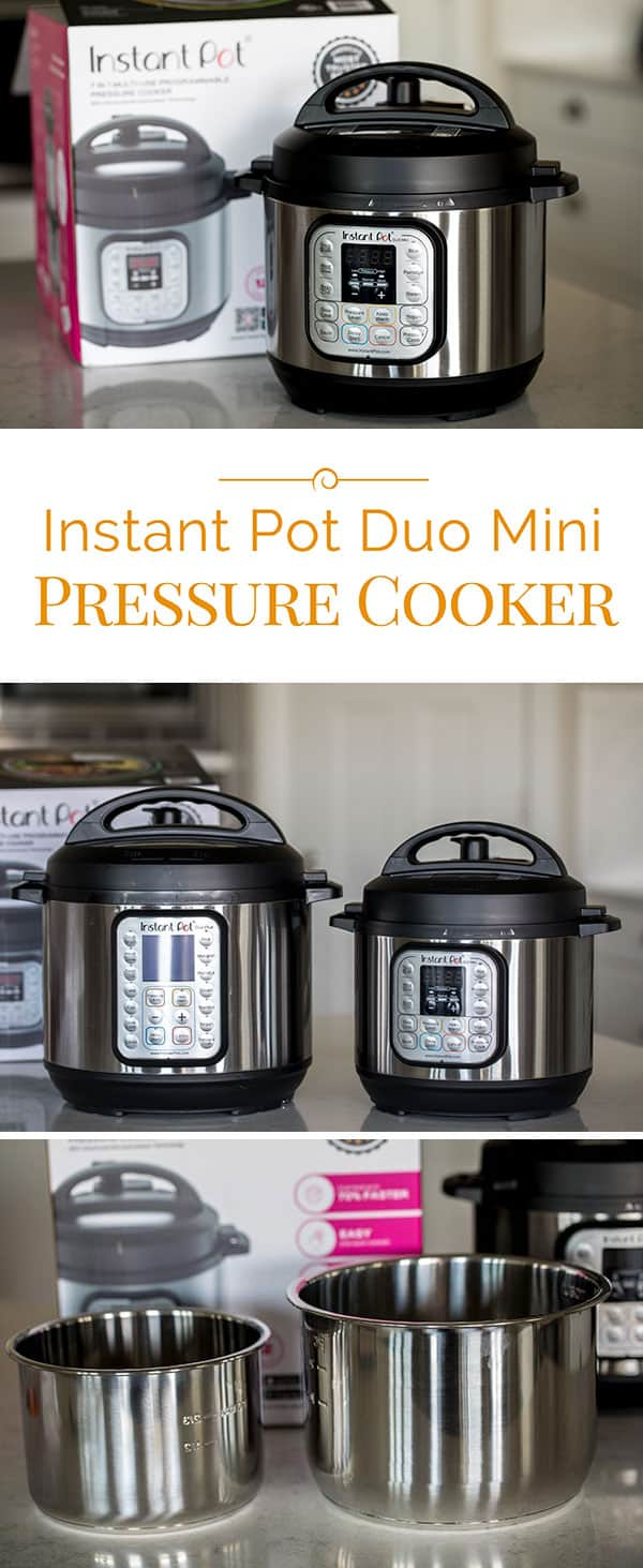 The new 3 quart Which Instant Pot is Right for you? Instant Pot Duo Mini pressure cooker is perfect for small families, college students and to use while you\'re traveling.