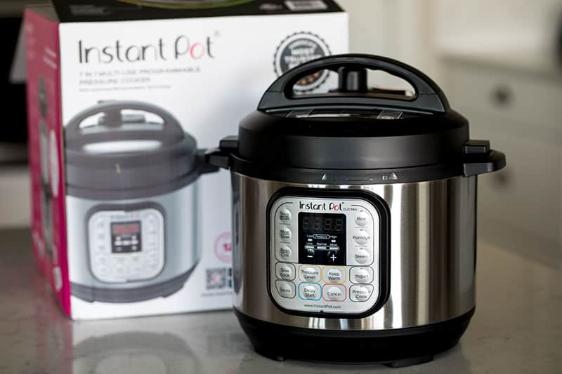 The new 3 quart Instant Pot Duo Mini pressure cooker is perfect for small families, college students and to use while you\'re traveling.