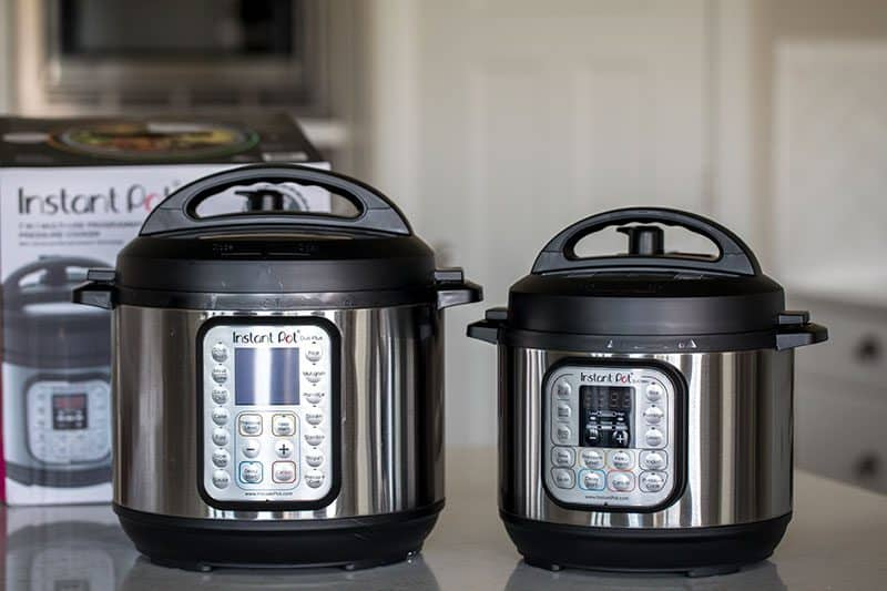 Instant Pot Mini Side by Side Comparison