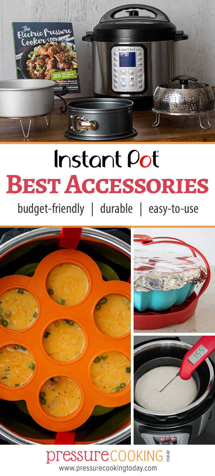 The BEST Instant Pot accessories of 2019  ||  Updated recommendations for cake pans, trivets, steamer baskets, egg bite molds, bundt pans, (and more) that fit inside ANY BRAND of 6-quart electric pressure cooker via @PressureCook2da