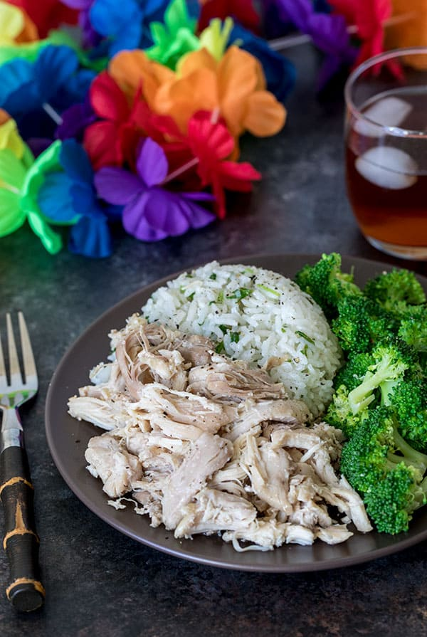 This Pressure Cooker Kalua Chicken can be on the table in 30 minutes!