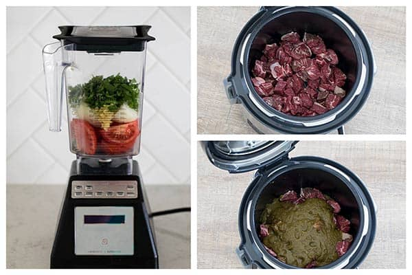 photo collage of Making Instant Pot Beef Curry