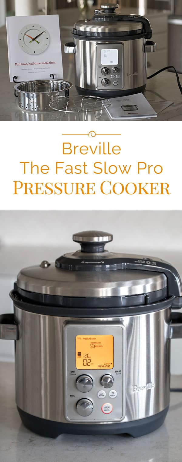 Breville The Fast Slow Pro Pressure Cooker / Multi Cooker isone of the more expensive electric pressure cookers on the market. It\'s a well built pressure cooker and has features that other pressure cookers don\'t have.