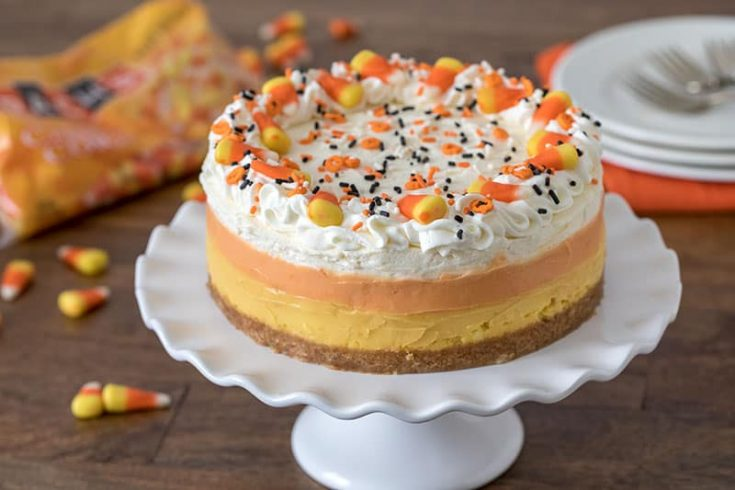 Pressure Cooker (Instant Pot) Candy Corn Cheesecake