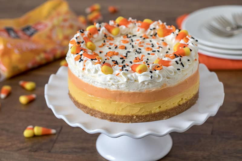 A fun tri-colored Halloween dessert that is the perfect Halloween treat.
