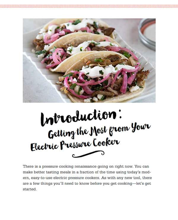 The Electric Pressure Cooker Cookbook Introduction: Getting the Most From Your Electric Pressure Cooker