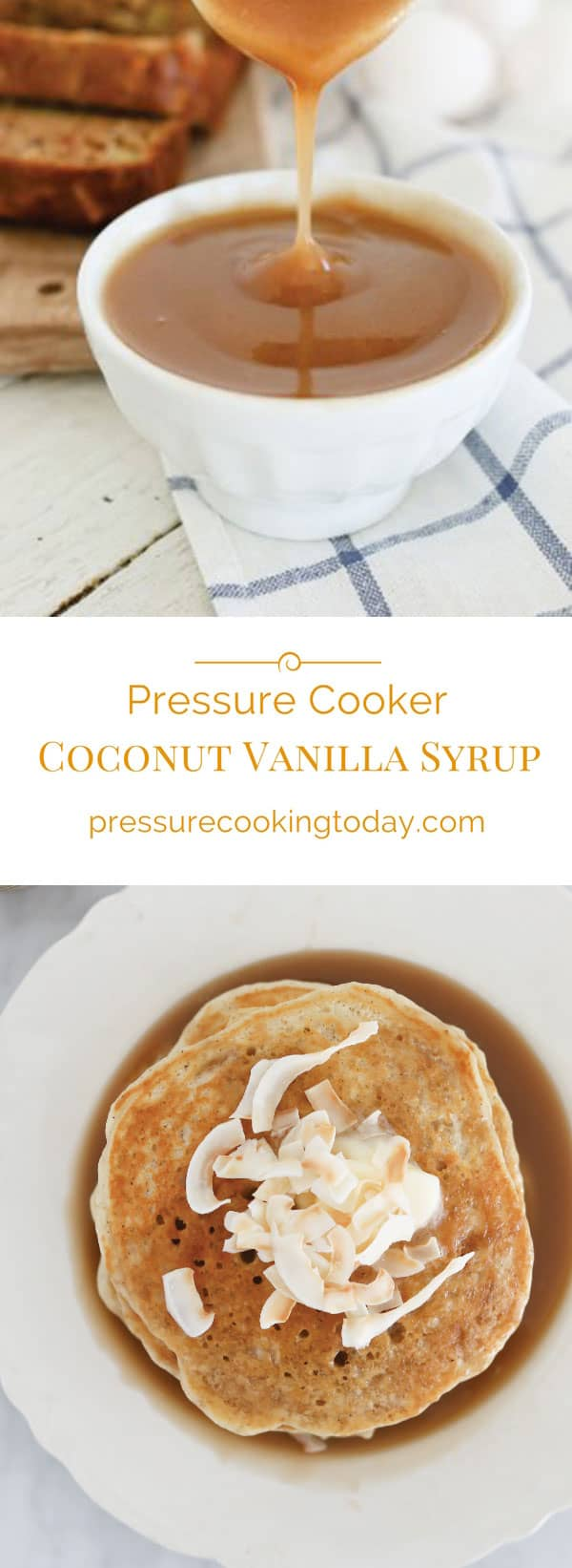 Coconut Vanilla Syrup photo collage