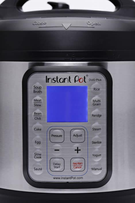 Close up of the buttons on the Instant Pot Duo Plus