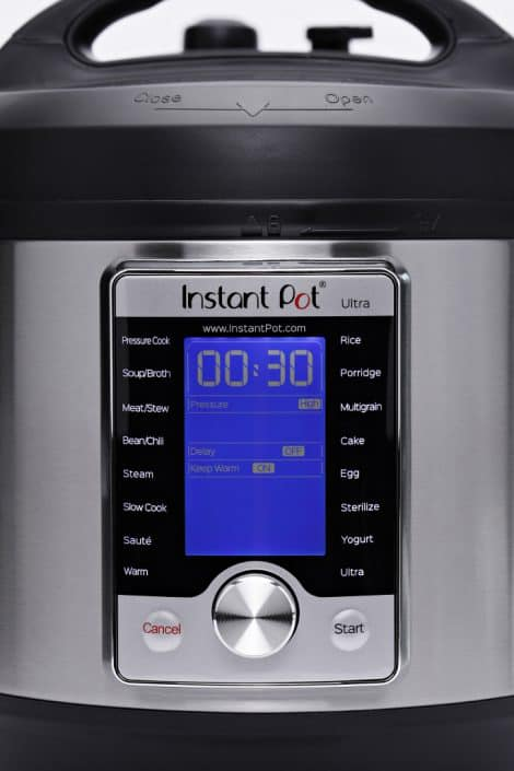 Close up of the dial on the Instant Pot Ultra