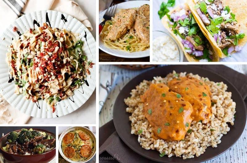 low-carb recipe collage