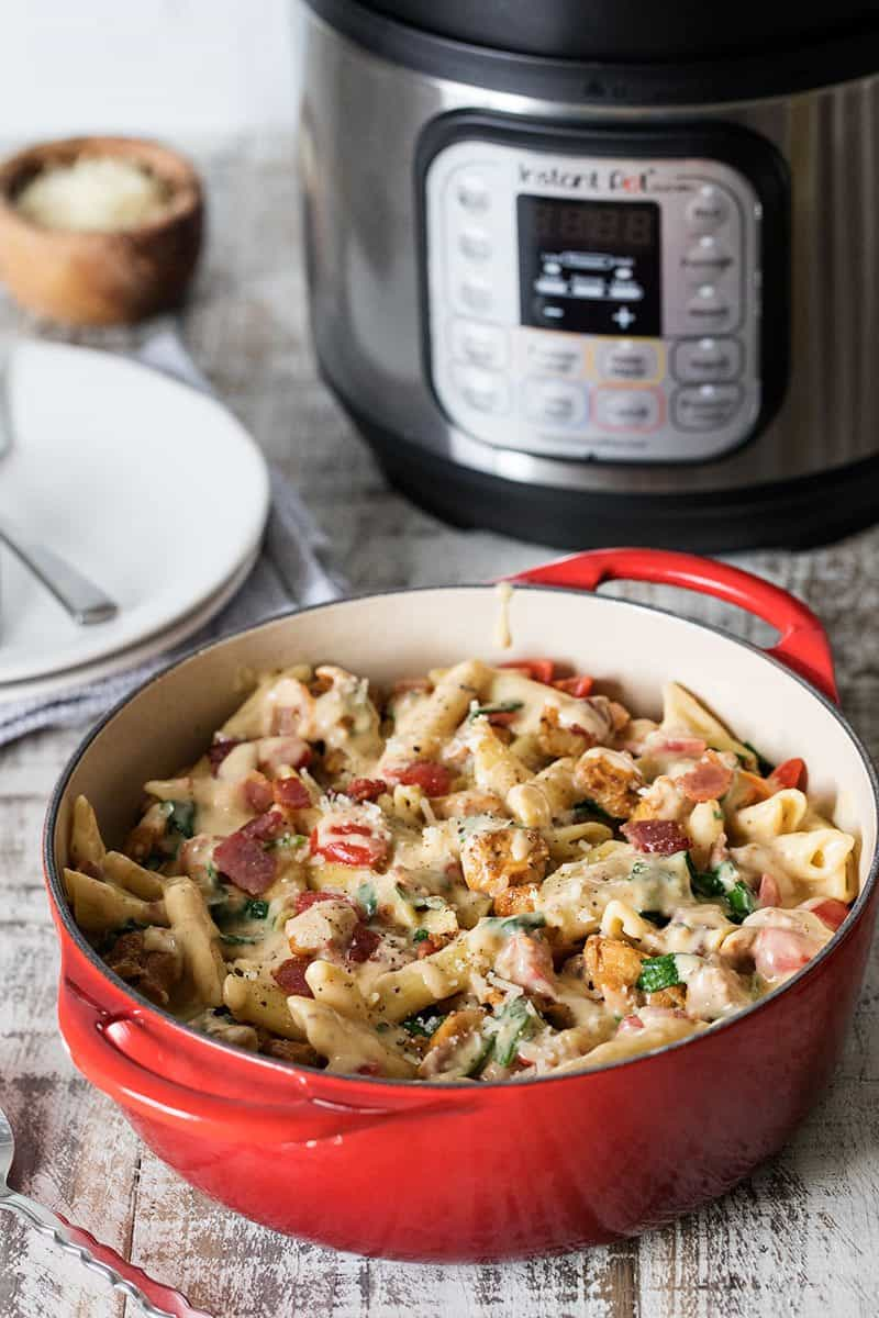 Cooking Pressure Cooker Chicken Bacon Penne Pasta&nbsp in the Max.