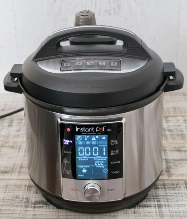 The Max has three pressure cooking levels