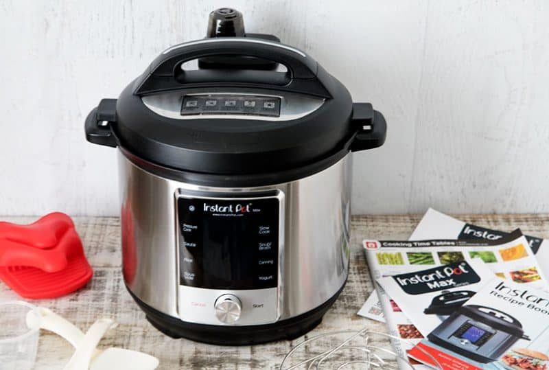 The Instant Pot Company continues to innovate and improve electric pressure cookers. Their newest model, the Instant Pot Max has lots of great new, innovative features.