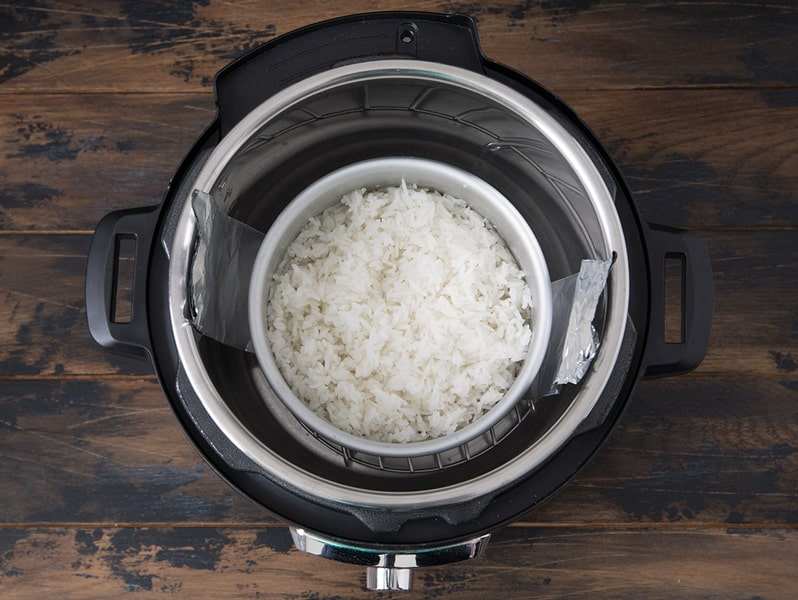 Pot-in-Pot (PIP) method for making rice in your Pressure Cooker/Instant Pot