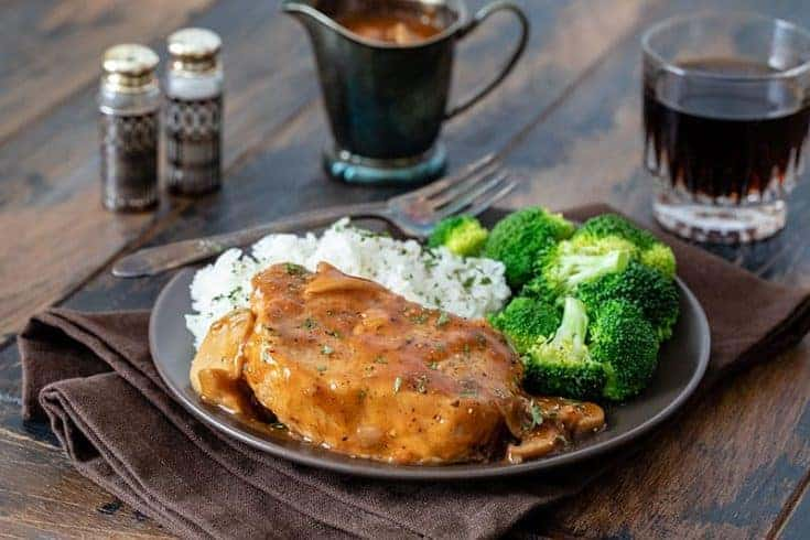 Instant Pot Boneless Pork Chop recipe, quick and easy with Onion Soup mix