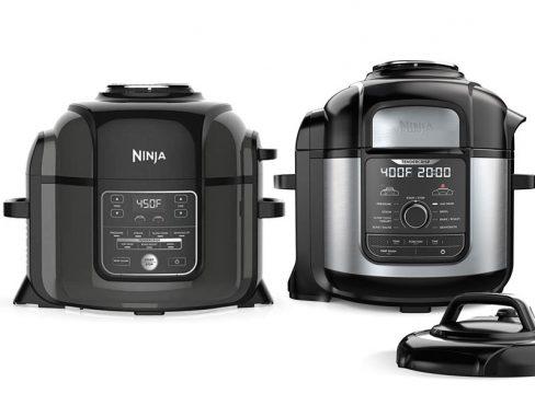 Side by side photos of Ninja Foodi and Ninja Foodi Deluxe