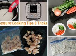 collage of pressure cooker tips and tricks