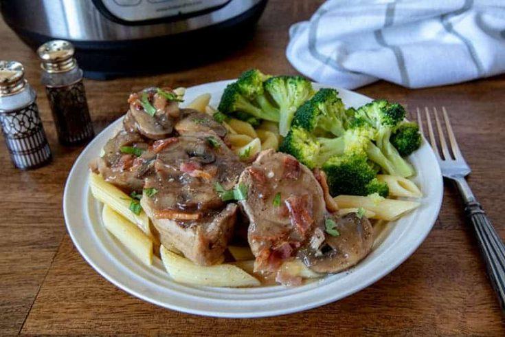 Pressure-Cooker-Pork-Tenderloin-Marsala-Penne