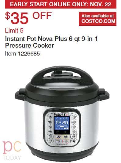 Black Friday 2018 Instant Pot Pressure Cooker Deals Pressure Cooking Today You can read more in our section on why other. black friday 2018 instant pot