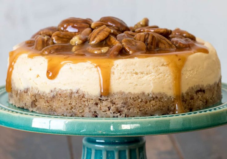 Instant Pot Caramel Pecan Cheesecake by Pressure Cooking Today
