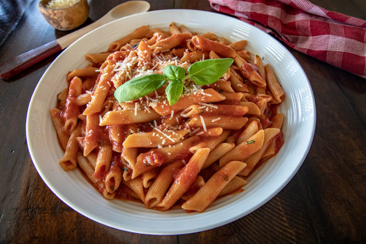Pressure Cooker Penne and Quick Marinara Sauce