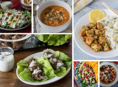 Collage of Healthy Instant Pot Recipes | Low-Carb, Low-Fat, and Loaded with Vegetables, these recipes work in any brand of electric pressure cooker