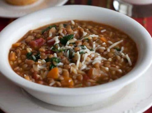 Lentil Orzo Soup in the Electric Pressure Cooker or Instant Pot