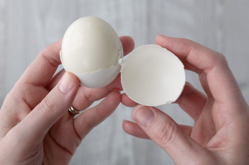 Eggs cooked in the pressure cooker are so easy to peel