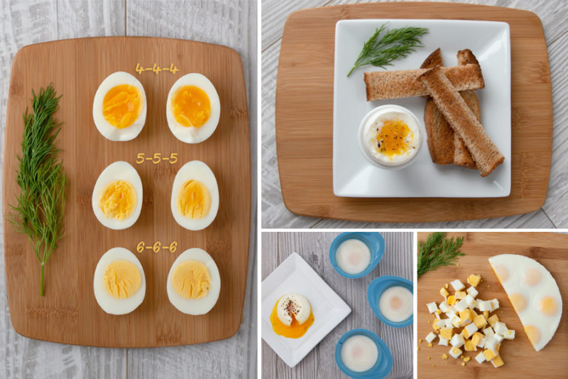 collage of how to Make Instant Pot Eggs in ANY Electric Pressure Cooker