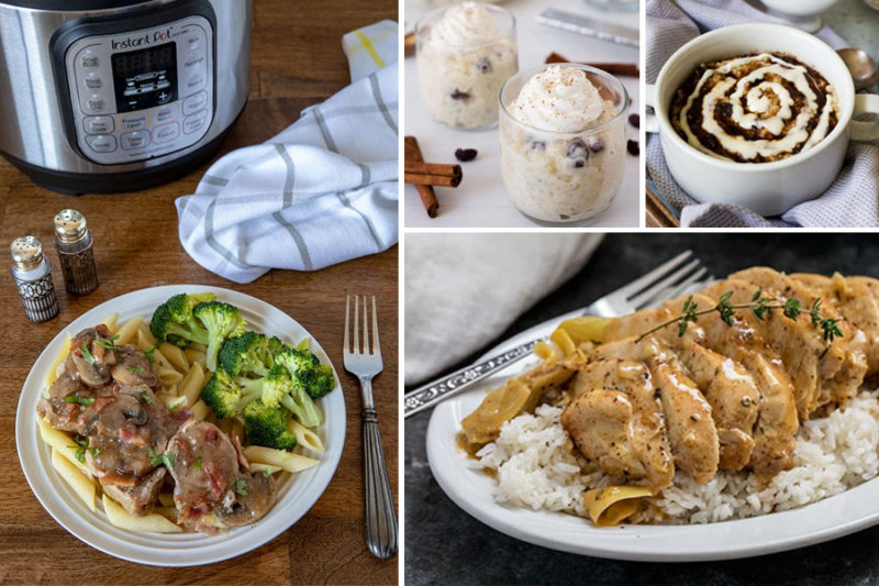 Collage of pictures showing Instant Pot / Pressure Cooker Gluten Free Recipe Roundup from Pressure Cooking Today