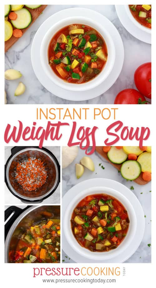 Instant Pot / Pressure Cooker Weight Loss Vegetable Soup | Recipe by Pressure Cooking Today