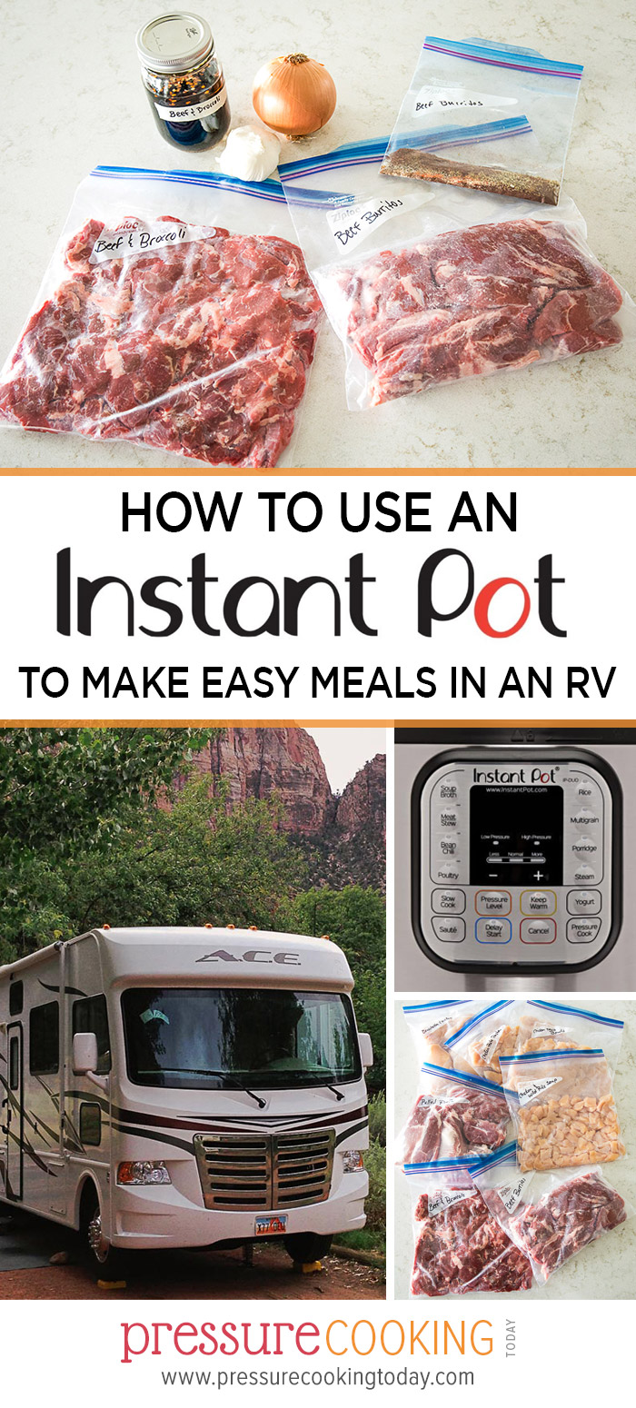 EVERYTHING you need to know about how to use an Instant Pot in your RV. Plus, get a FREE download of my 7-day Instant Pot RV menu and shopping list via @PressureCook2da