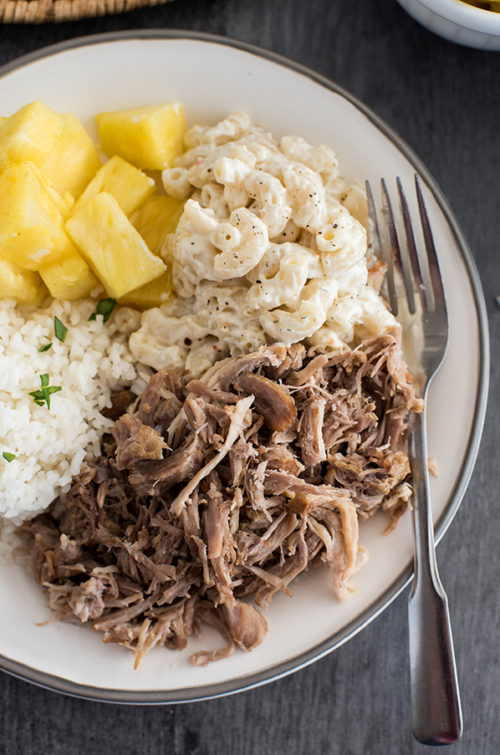 Close up of Insta Pot Kalua Pork recipe from Pressure Cooking Today