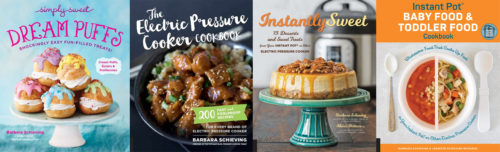 The four cookbooks written by Barbara Schieving