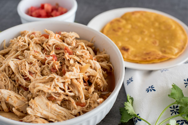 Pressure Cooker / Instant Pot Chicken Taco Filling for Chicken Tacos
