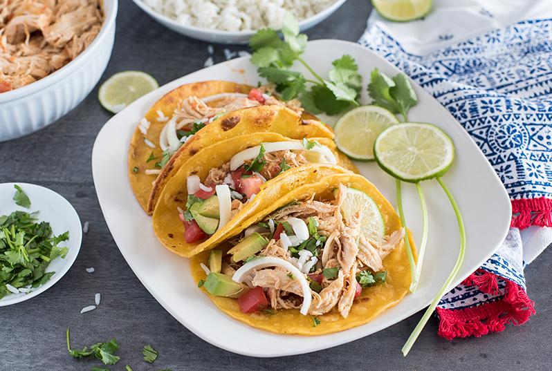Easy Pressure Cooker Instant Pot Chicken Tacos