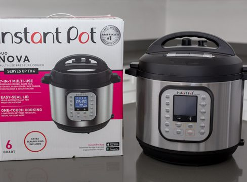 Instant Pot Duo Nova removed from the box.