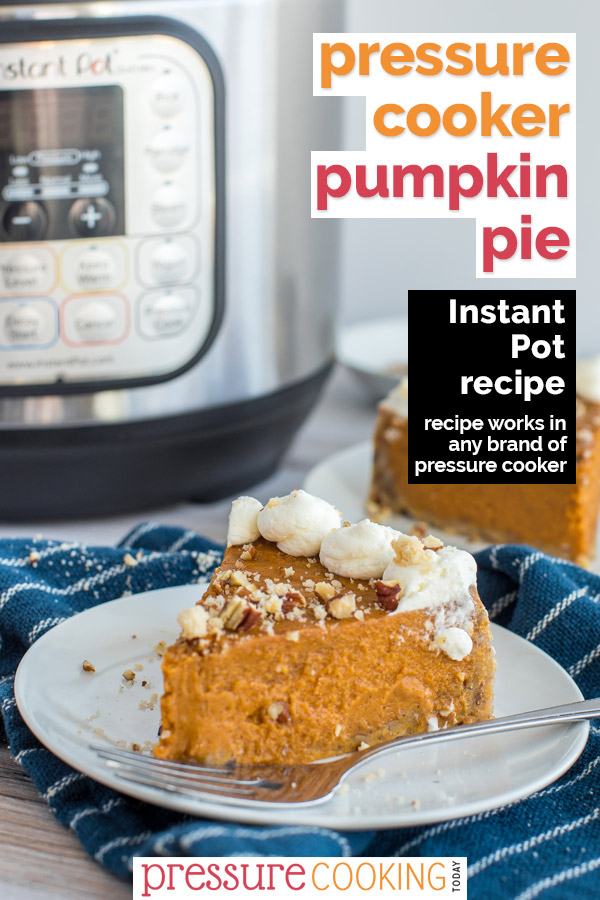 Classic pumpkin pie made in an Instant Pot.