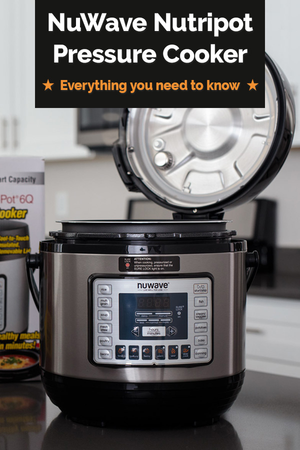 The NuWave NutriPot Pressure Cooker is a nice less expensive pressure cooker with some higher-end features like a push-button steam release and an easy carry handle. I'll tell you everything you need to know to get it out of the box and into your kitchen. via @PressureCook2da