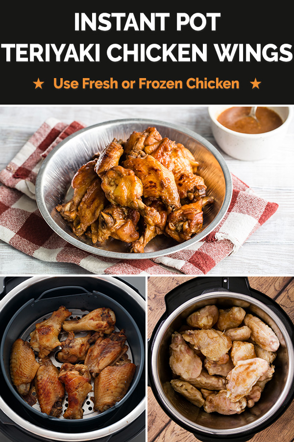 These tender Instant Pot Teriyaki Chicken Wings pressure cook in a delicious, homemade teriyaki sauce, then get browned sticky and sweet in your oven with your air fryer lid.   The recipe works in ANY brand of electric pressure cooker, including the Instant Pot Duo Crisp, the Ninja Foodi, or with the Mealthy Crisp Lid or Instant Pot Air Fryer Lid.  #PressureCookingToday #InstantPot #InstantPotRecipe #SuperBowlFood #chickenwings  via @PressureCook2da