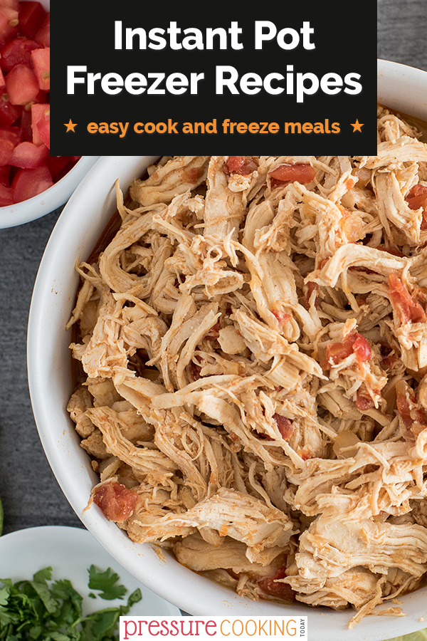 These are the BEST Instant Pot Freezer Meals to cook now and freeze for later! Make a double batch of these family favorites to stock your freezer with ready-to-eat, nutritious, and delicious meals! #PressureCookingToday #InstantPotRecipes via @PressureCook2da