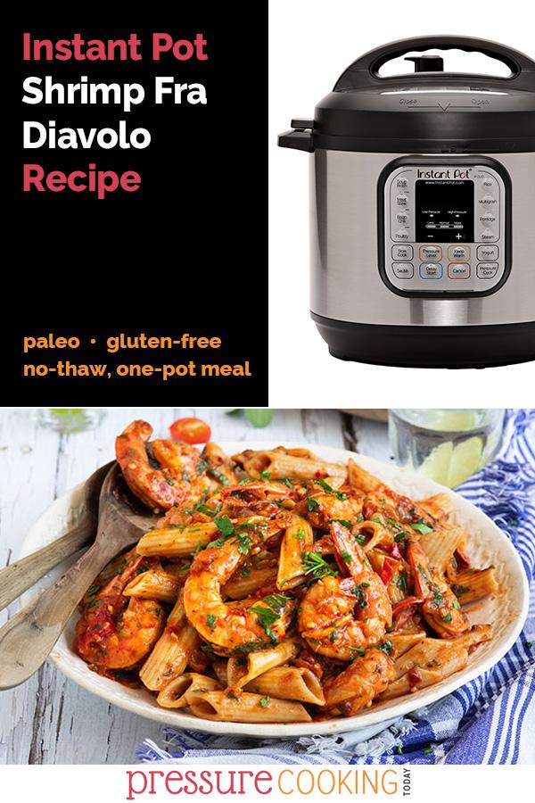 Instant Pot Shrimp Fra Diavolo over Penne Paleo recipe