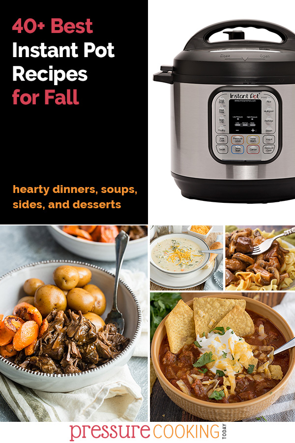 Chili, gravy, soups, for dinners and pumpkin spice desserts! Looking for some great recipes this fall? You'll find a new favorite in one of these fall dinners, side dishes, soups, and desserts. via @PressureCook2da