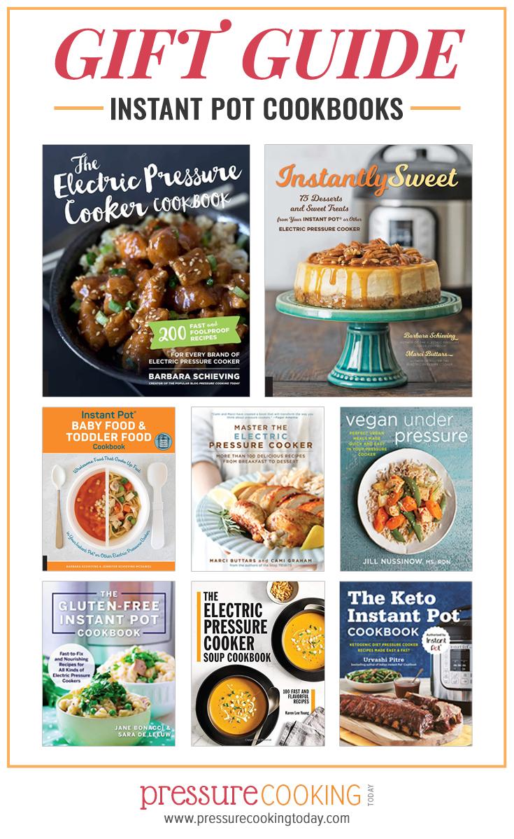 Pinterest image promoting Instant Pot cookbook gift guide for pressure cooker lovers